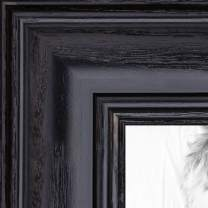 """ArtToFrames 11x17 Inch Black Picture Frame, This 1.25"""" Custom Wood Poster Frame is Black Stain on Solid Red Oak, for Your Art or Photos - Comes with Regular Glass, WOM0066-59504-YBLK-11x17"""