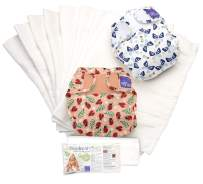 Bambino Mio, miosoft cloth diaper set, bug's life a, size 1 (<21lbs)