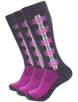 Wantdo Women's Warm Snowboarding Socks Winter Outdoor Sports Gear Outdoor