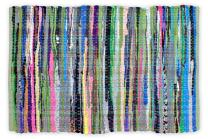 DII Contemporary Reversible Indoor Area Rag Rug, Machine Washable, Handmade from Recycled Fabrics, Unique For Bedroom, Living Room, Kitchen, Nursery and more,, 4 x 6' - Multi Colored (Color may vary)