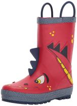 Western Chief Boys Waterproof Printed Rain Boot with Easy Pull On Handles, Spike, 5 M US Toddler
