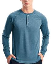 Mens Henley Long Sleeve T Shirts