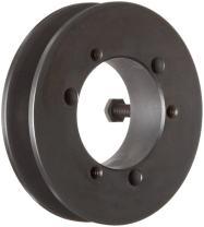 "Martin 1 B 34 SH V-Belt Drive Sheave, A/B Belt Section, 1 Groove, SH Bushing required, Class 30 Gray Cast Iron, 3.75"" OD, 6616 max rpm, A - 3/B - 3.4"" Pitch Diameter"