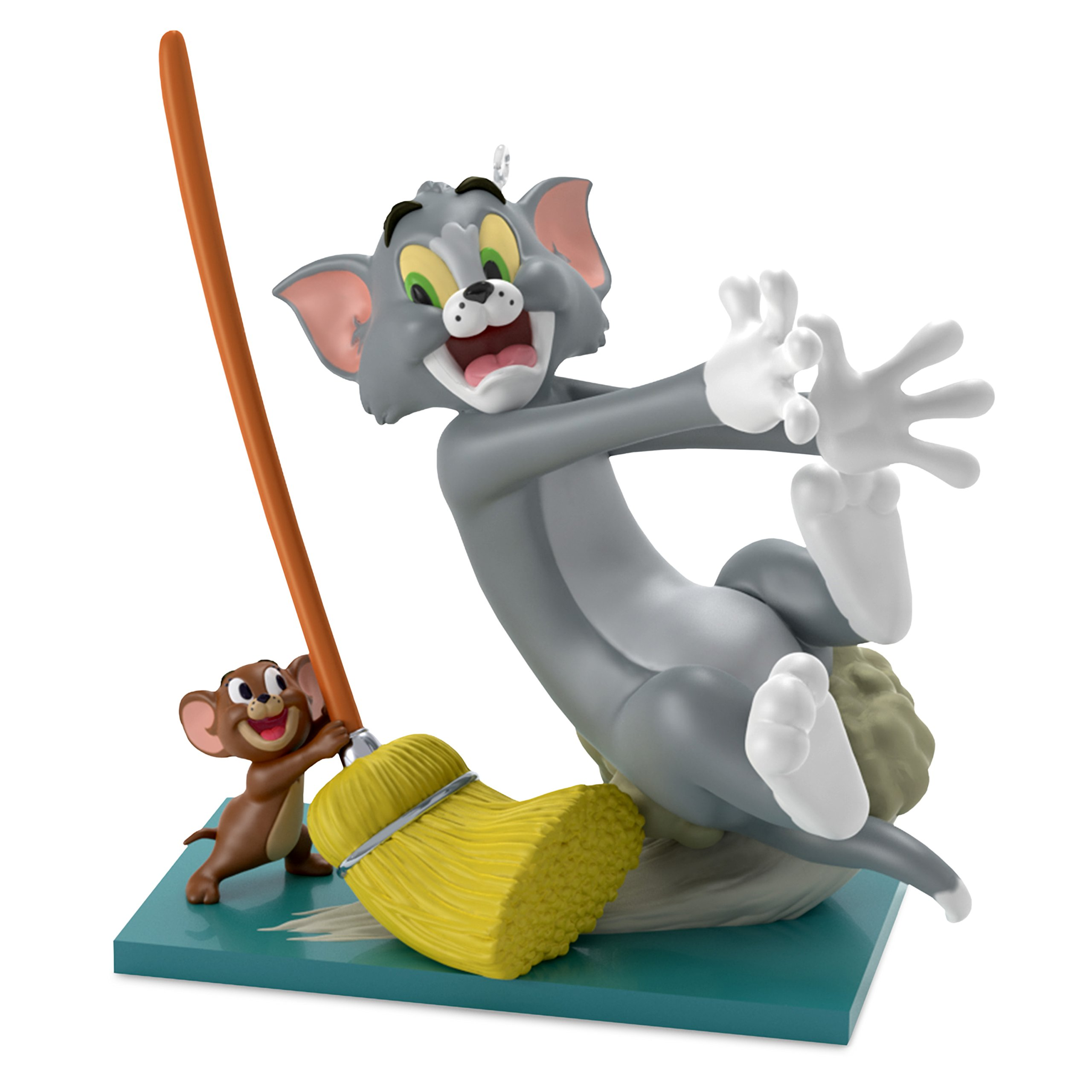 Hallmark Keepsake Christmas Ornament 2018 Year Dated, Tom and Jerry Mouse Cleaning
