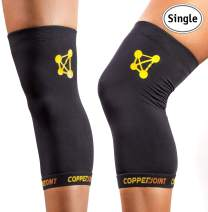 CopperJoint Compression Knee Sleeve - Copper-Infused, Promotes Increased Blood Flow to The Knee, Provides Compression and Support for Athletes - Single