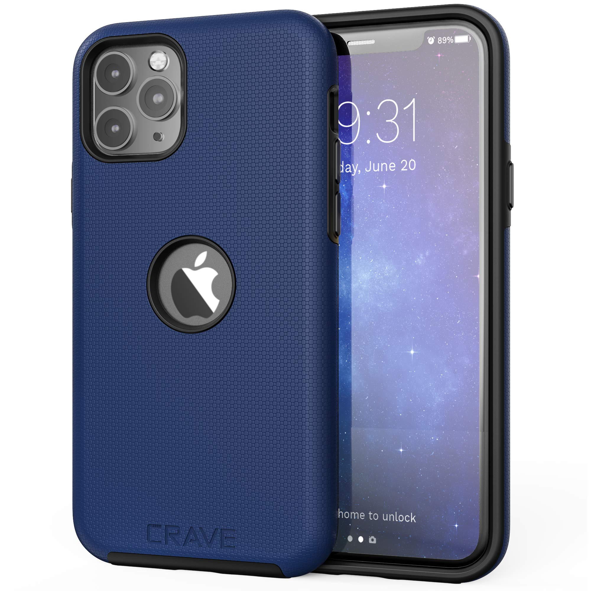 Crave iPhone 11 Pro Case, Dual Guard Protection Series Case for iPhone 11 Pro - Navy