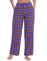 Womens Cotton Flannel Plaid Pajama/PJ/Lounge/Sleep Pants/Bottoms