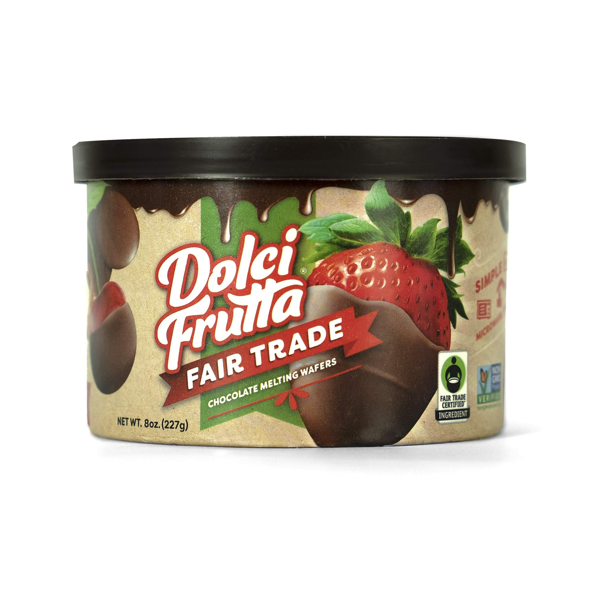 Dolci Frutta Fair Trade Chocolate Shell, Sustainably Sourced, Nut-Free, Gluten-Free, 8oz, Pack of 2