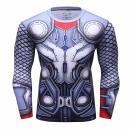 Red Plume Men's Thunder Superhero Sports Shirt Party/Gift Running Functional Long Sleeve Tee