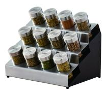 Kamenstein 5192805 Tilt 12-Jar Countertop Spice Rack Organizer with Free Spice Refills for 5 Years