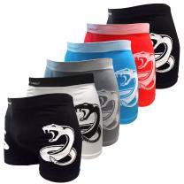 Crazy Cool Stretches Seamless Mens Boxer Briefs Underwear 6-Pack Set