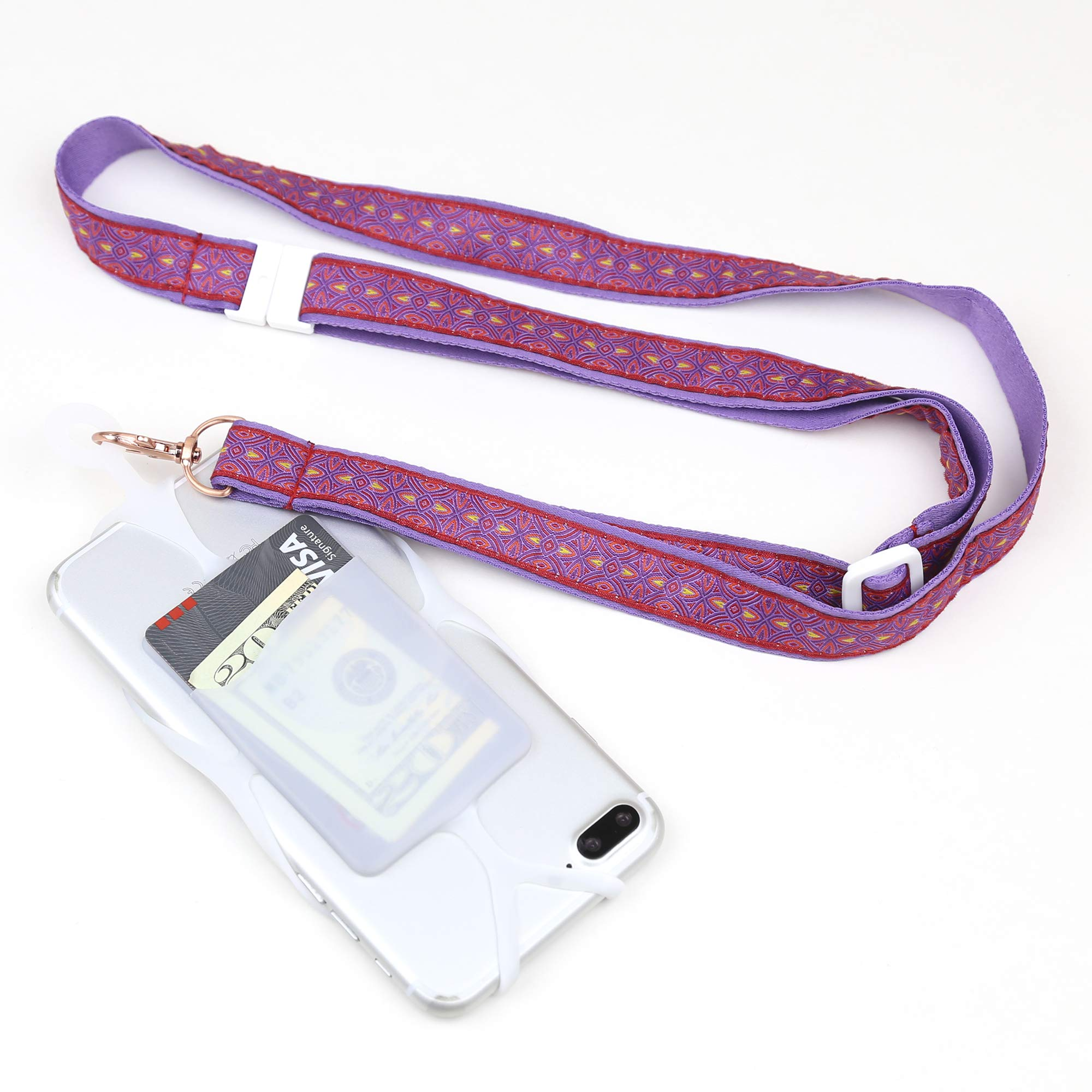 Cell Phone Lanyard Mobile Phone Case Holder with Card Pocket and Adjustable Neck Strap and Crossbody Strap for iPhone 11 Pro Max Xs Max Xr X 8 7 6 Plus Galaxy S10e S10 S9 S8 Plus Note 9 8 Pixel 3 XL