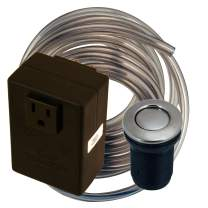 Westbrass ASB-07 Disposal Air Switch and Single Outlet Control Box, Satin Nickel