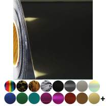 """Threadart Metallic Black 20"""" Wide Heat Transfer Vinyl Film   By the Yard   Use with Silhouette, etc   Available in Over 30 Colors"""