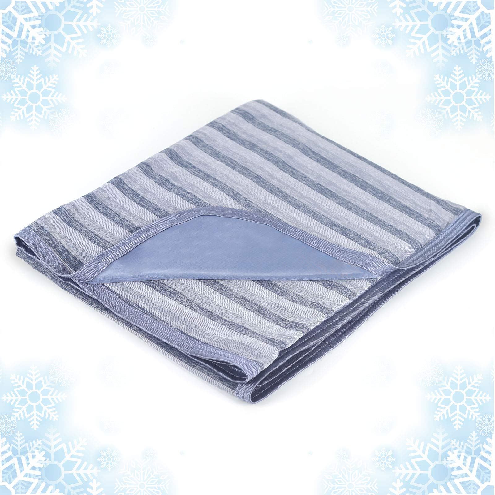 Cooling Blanket with Double Sided Cold,Lightweight Breathable Twin/Full Size Summer Blankets for Bed,Cool Tech Transfer Heat to Keep Adults, Children Cool for Hot Sleepers Night Sweats,with Travel Bag