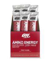 Optimum Nutrition Essential Amino Energy Individual Packs, Fruit Fusion, Keto Friendly BCAAs, with Green Tea and Green Coffee Extract, On-the-Go 6 Pack