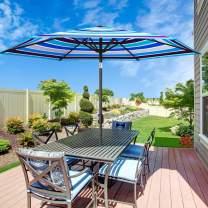 MOVTOTOP Patio Umbrella 9Ft UPF 50+ Premium Outdoor Table Umbrella, Market Umbrella with Push Button Tilt and Crank for Garden, Deck, Backyard, Pool