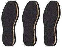 Pedag Washable Deo-Fresh Insoles with Natural Cotton Terry and Sisal Fibers, Black, 3 Count, US6/EU36