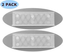 "Premium Magnetic Basket Magnetic Pencil Holder Magnetic Locker Accessories Magnetic Marker Holder Locker Organizer - 7.8"" Wide - 6 Strong Magnets - 2 Pack - White"