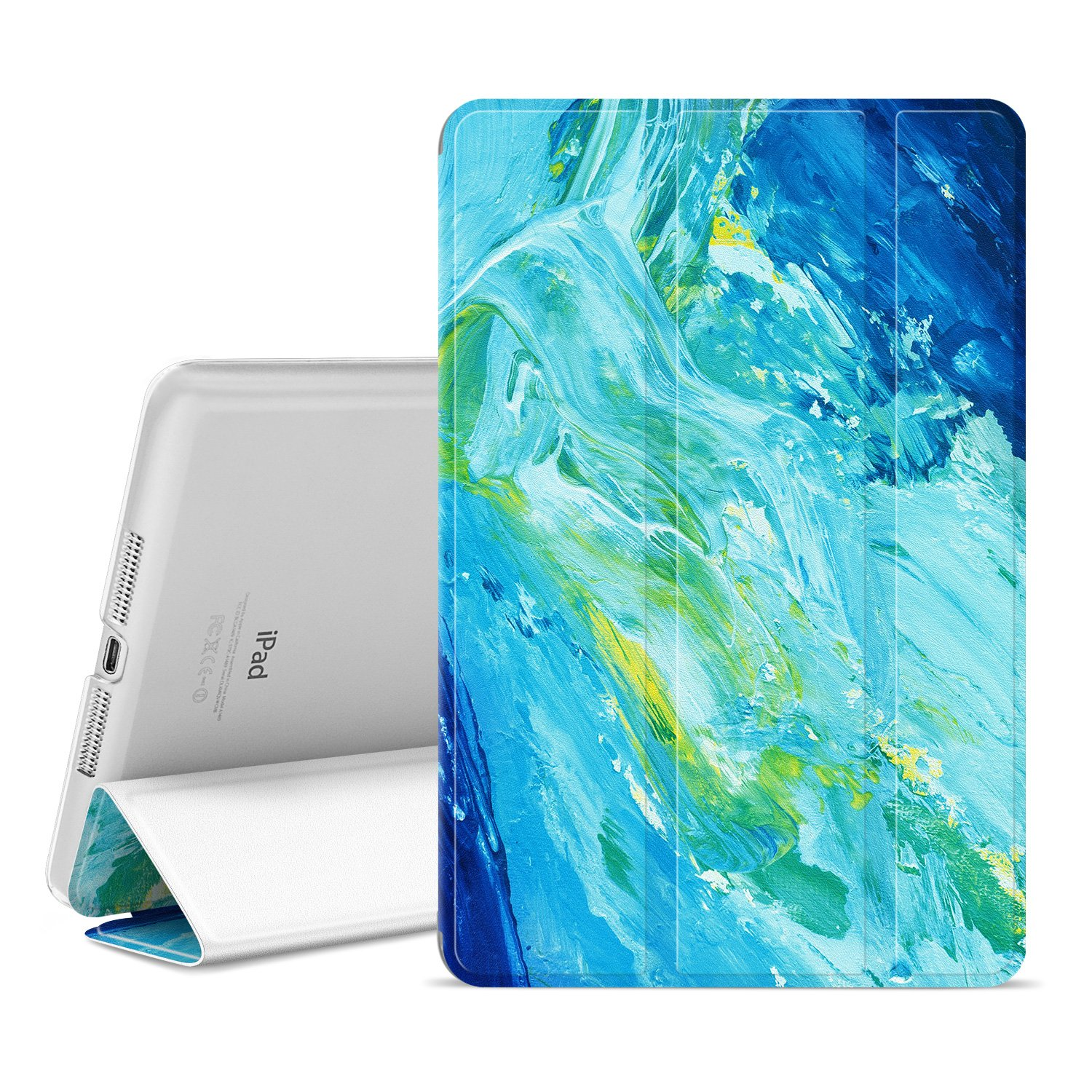 Ayotu Colorful Shell for iPad Mini 1 Case,Mini 2 Cover Mini 3 Slim Stand Smart Cover with Auto Wake/Sleep Protective Cover for iPad Mini 1/Mini 2/Mini 3 The Oil Painting