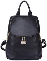 BOAYTU Genuine Leather Mini Backpack Purse for Women Elegant Shoulder Bag