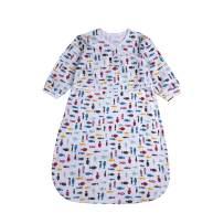 BLOOMSTAR Baby Long Sleeve Sleep Sack All Season,100% Cotton Swaddle Sleeping Bag, Wearable Blanket Baby with Sleeve,Sleepwear