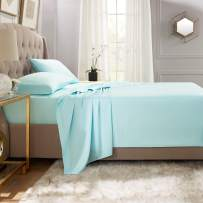 """Empyrean Bedding Premium Flat Sheet – """"110 GSM"""" Double Brushed Microfiber Extra Thick and Comfortable Flat Sheets, Luxurious & Soft Hotel Single Top Bed Sheet Hypoallergenic, Full, Light Baby Blue"""