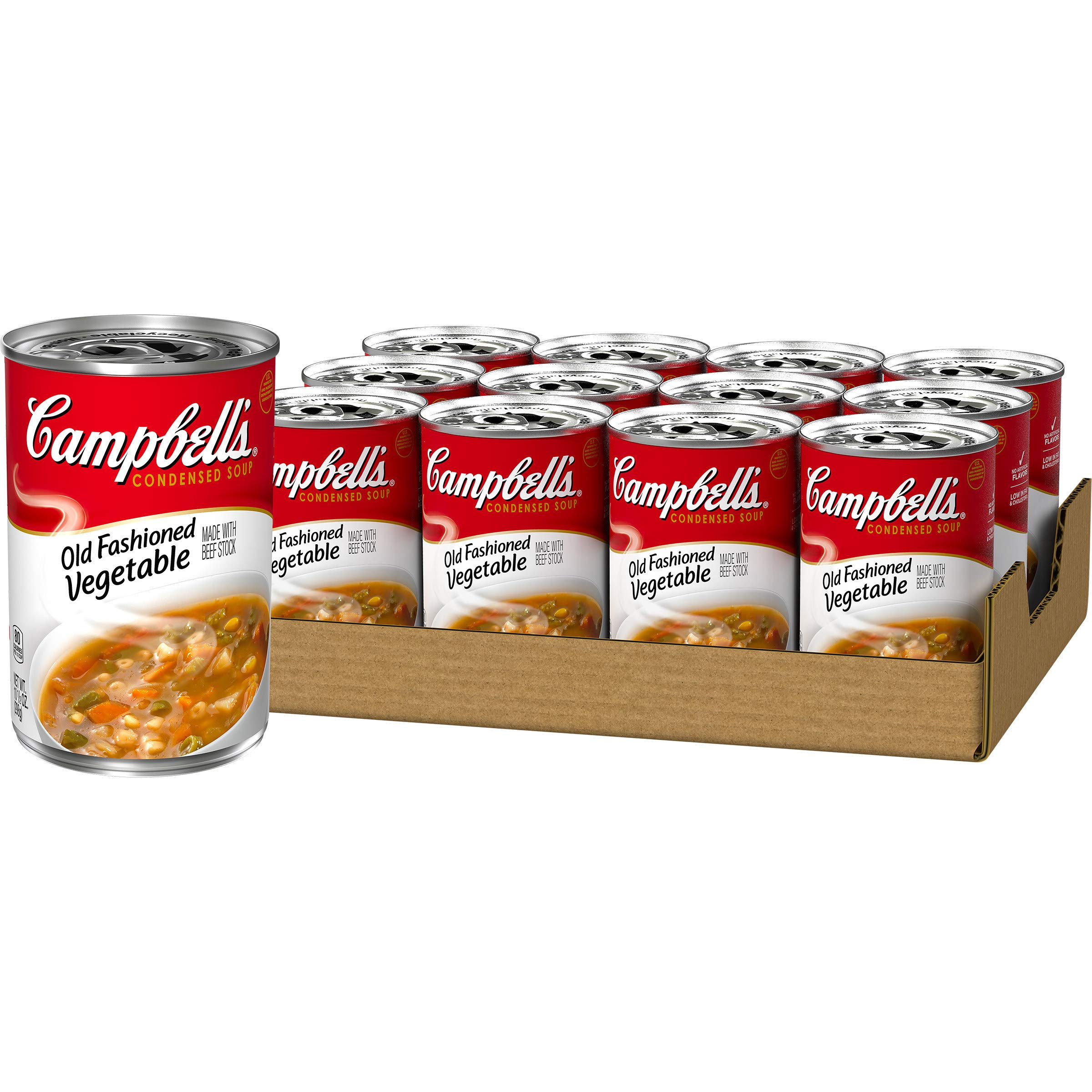 Campbell'sCondensed Old Fashioned Vegetable Soup, 10.5 oz. Can (Pack of 12)