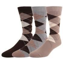 Men's Argyle Art Cotton Dress Socks Novelty Funny Crazy Colorful Patterned Gifts