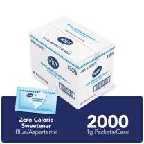 N'Joy Zero Calorie Sweetener | Blue Aspartame Packets | 2000 Count | Kosher | Gluten Free and Sodium Free