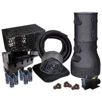 HALF OFF PONDS Savio Pond Free 10000 Waterfall Kit with MatrixBlox, 15' x 30' EPDM Liner and 10,000 GPH Pump - PMSB8