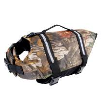 Camo Pet Life Preserver Jacket,Camouflage Dog Life Vest with Adjustable Buckles,Dog Safety Life Coat for Swimming, Boating, Hunting   (XS, S, M, L, XL) …