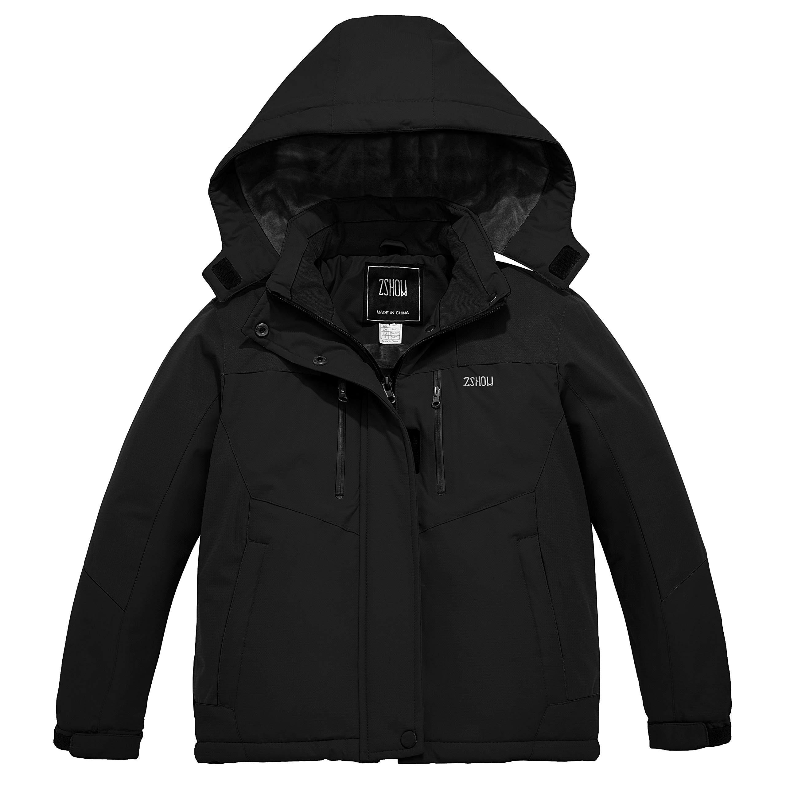ZSHOW Girls' Waterproof Ski Jacket Warm Winter Snow Coat Fleece Raincoats