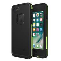 Lifeproof FRē Series Waterproof Case for Iphone 8 & 7  - Retail Packaging - Night Lite (Black/Lime)