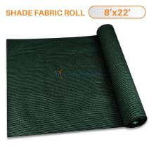 TANG Sunshades Depot 8'x22' Shade Cloth 180 GSM HDPE Dark Green Fabric Roll Up to 95% Blockage UV Resistant Mesh Net for Outdoor Backyard Garden Plant Barn Greenhouse