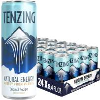 TENZING Natural Energy Drink, Plant Based & Low Calorie, With Natural Caffeine, Vitamin C & Electrolytes, Original Recipe, 8.4 Fl Oz (Pack of 24)