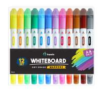 Dry Erase Markers for Whiteboard - Dual Tip, Medium and Fine Point – Ultra Fine Tip Dry Erase Markers, Perfect for Home, School or Office - Low Odor, 12 Set Assorted Colors