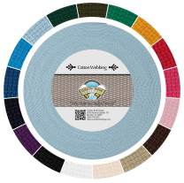 Country Brook Design - Sky Blue Heavy Cotton Webbing with 17 Vibrant Color Options (1 Inch, 25 Yards)