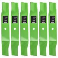 8TEN LawnRAZOR Hi Lift Blade for John Deere AM137324 AM141039 M153118 M84472 GT242 LT150 38 Inch Deck 6 Pack