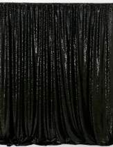 B-COOL Sparkle Photo Backdrop 10ftx10ft Black Sequin Backdrop Curtains for Weddings