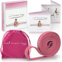 My Way Fitness Ballet Stretch Band by MWF - Perfect for Ballet, Dance, Gymnastics and Ice Skating - Premium Gift Box, Velvet Bag and Guide Included