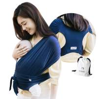 Konny Baby Carrier | Ultra-Lightweight, Hassle-Free Baby Wrap Sling | Newborns, Infants to 45 lbs Toddlers | Soft and Breathable Fabric | Sensible Sleep Solution (Navy, 2XS)