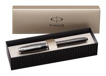 Parker Urban Premium Ebony Metal Chiseled, Fountain Pen, Medium nib with Blue ink (S0911470)
