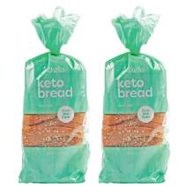 Kiss My Keto Bread Seeded Wheat — Zero Carb Bread (0g Net), 6g Protein / Slice | Sugar Free, Low Carb Bread | Low Calorie, No GMOs, Soy Free & 100% Carb Free (2 Packs)