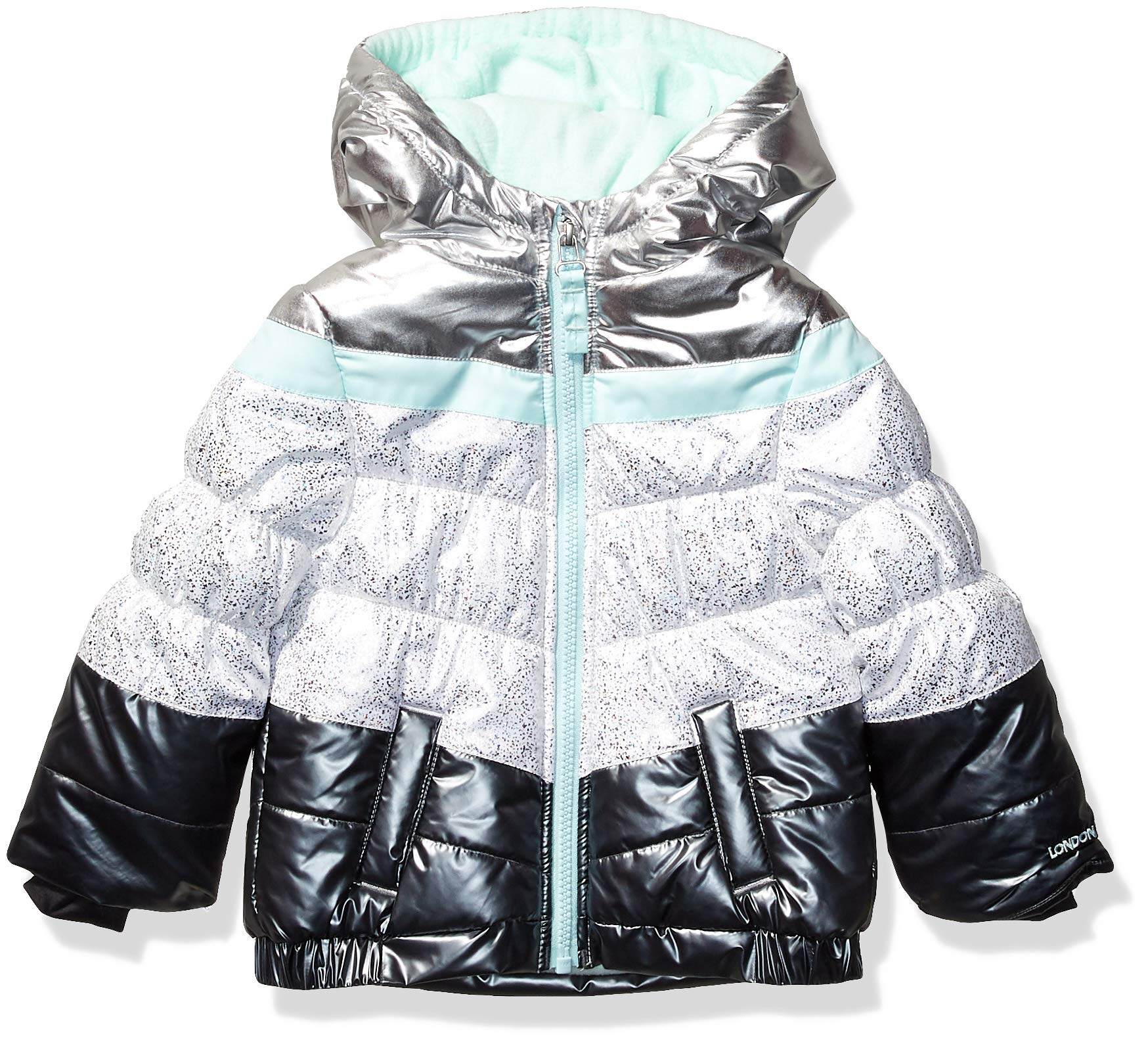 LONDON FOG Girls' Toddler Shine Puffer Jacket