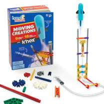 hand2mind Moving Creations with K'NEX, Book and Building Kit for Kids Ages 8-12, 9 Models & 18 Science Experiments, Explore The Science of Air and Water, Homeschool Science Kits