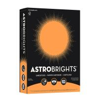 "Astrobrights Colored Cardstock, 8.5"" x 11"", 65 lb/176 GSM, Cosmic Orange, 250 Sheets (21858)"