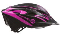 Punisher Men's and Women's 18-Vent Cycling Helmet with ABS Shell, Dial-Adjustable with Quick Release Neck Strap and Detachable Visor - Adult Size Large - One Size Fits Most