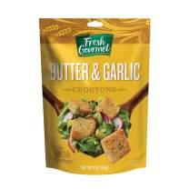 Fresh Gourmet Premium Croutons, Butter & Garlic, 3 Ounce (Pack of 15)