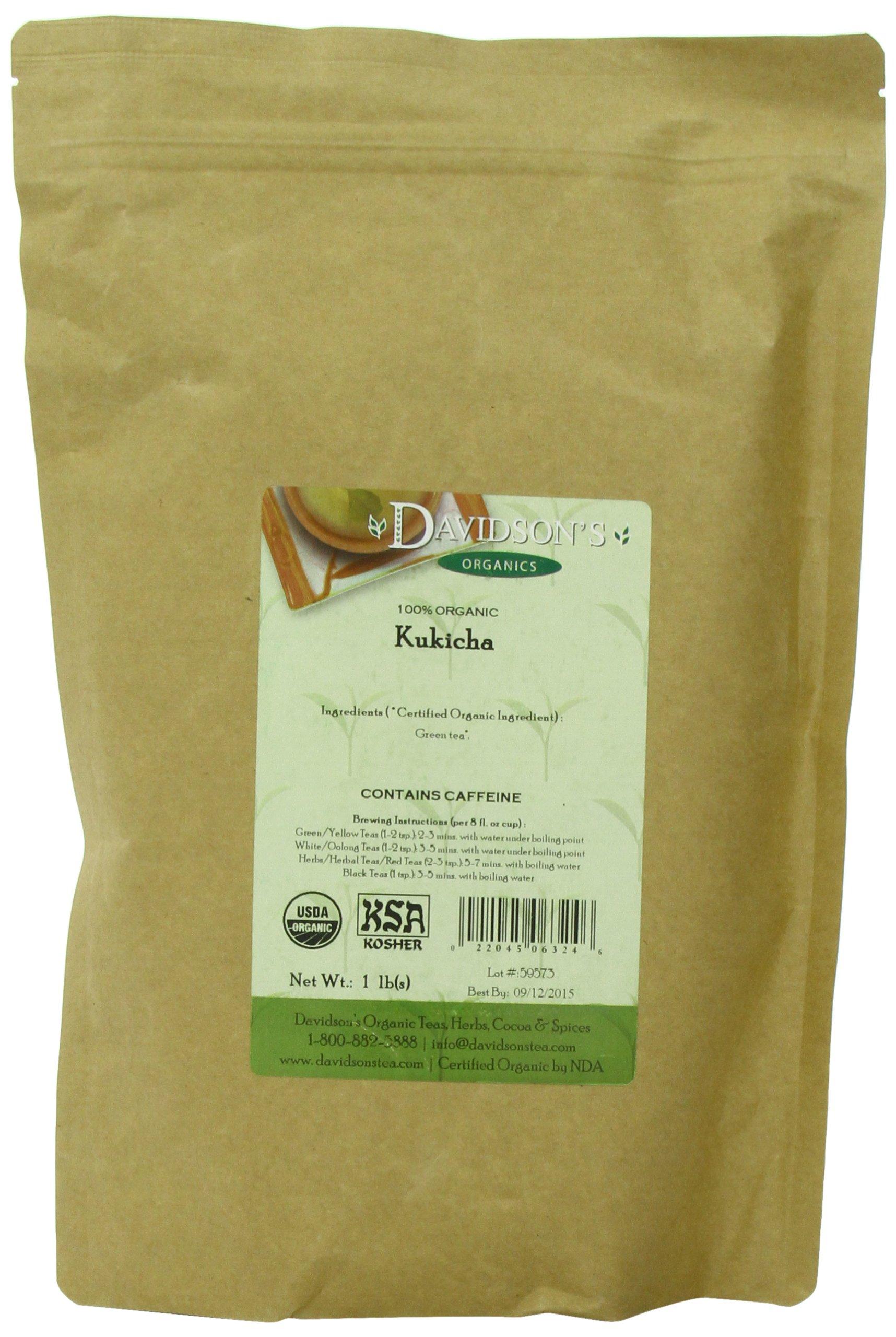 Davidson's Tea Bulk, Organic Kukicha, 16 Ounce